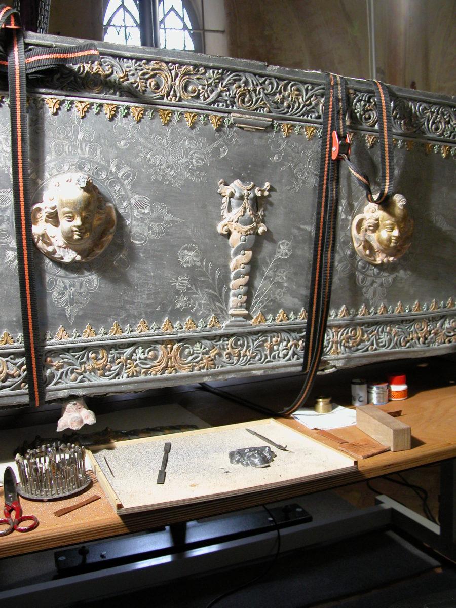 Restaurierung Museum Peenemünde Wolgast-Sarkophage