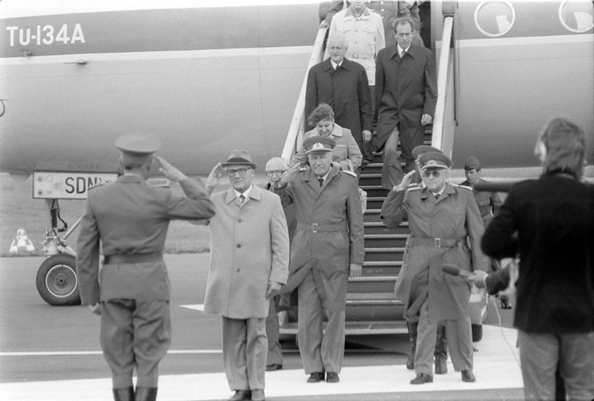 Erich Honecker zu Besuch in Peenemünde. (HTM Peenemünde, Archiv)