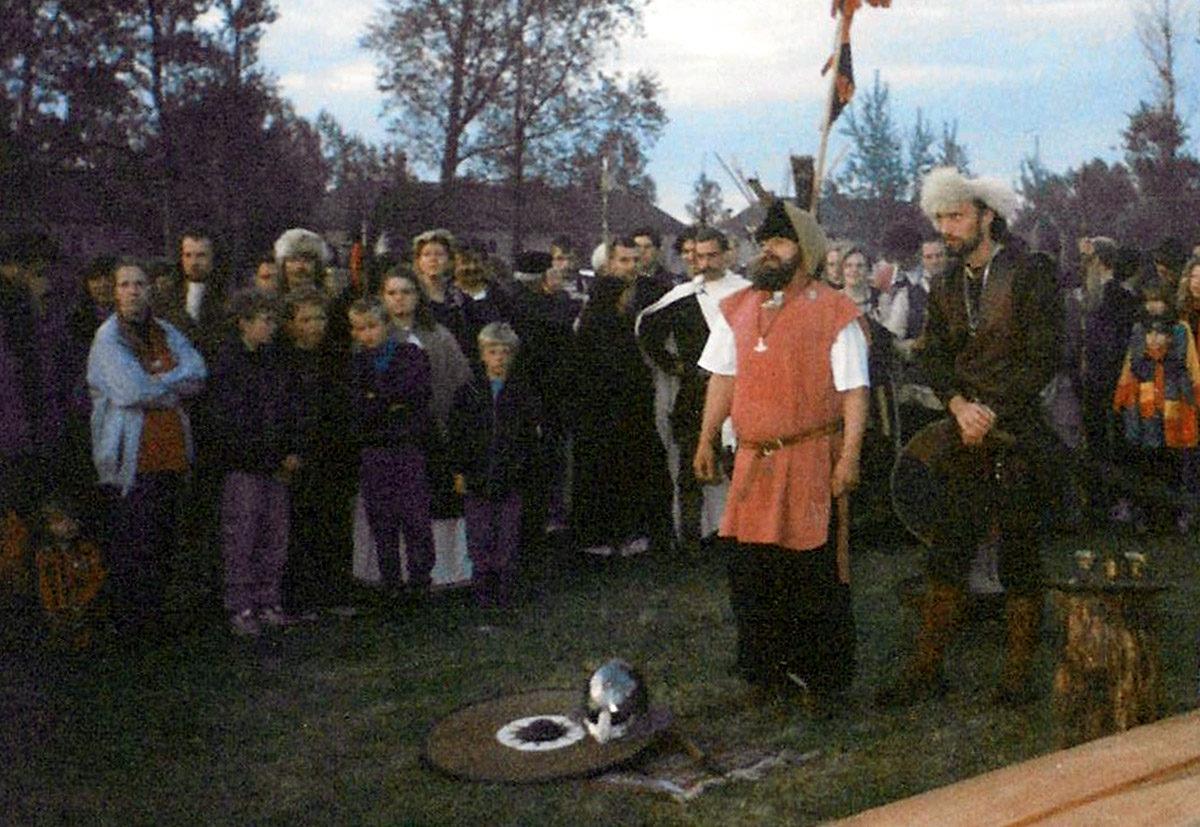 Wikingerlager in Peenemünde im Jahr 1996. Foto: Heinz Chust (HTM Peenemünde, Archiv)
